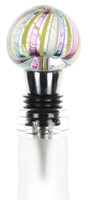Colorful Glass Wine Stopper Hand blown in NYC by Karen Curtis