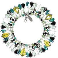 Green and Black Swarovski Crystal Bracelet