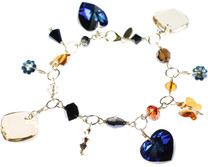 Limited edition crystal charm bracelet by the Karen Curtis Jewelry Collection in NYC