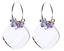 Violet Crystal Hoop Earrings by The Karen Curtis Jewelry Company