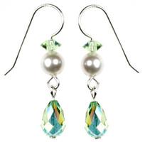 Peridot Single Drop Dangle Earrings