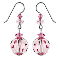 Pink Crystal Earrings from The October Birthstone Jewelry Collection