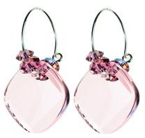 pink hoop earrings for october birthstone jewelry