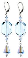 Statement Blue Crystal Earrings