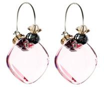 Soft Pink Crystal Hoop Earrings