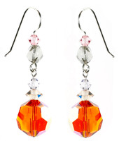 Orange Tangerine Dangle Earrings