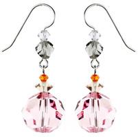 Vintage Light Rose Crystal Earrings