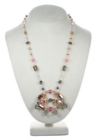 Pink and Gold Crystal Necklace