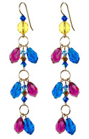 Blue Shoulder Duster Earrings - Tiffany