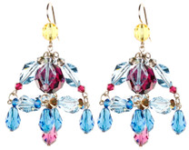Colorful Chandelier Earrings - Tiffany