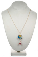 Colorful Crystal Pendant Necklace - Tiffany