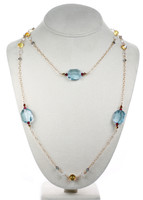 Large Aquamarine Crystal Necklace - Tiffany