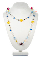 Long Multi Colored Necklace - Tiffany
