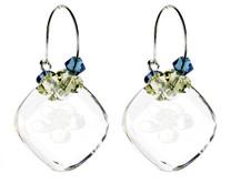 Crystal Hoop Earrings - Botanical