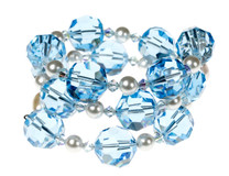 Something Blue Crystal Bracelet - Bridal Jewelry