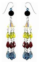 Long Colorful Strand Earrings - Botanical