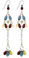 Long Elegant Colorful Earrings - Botanical