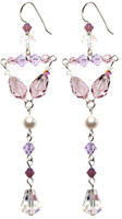 Lavender and Pearl Divine Earrings - June Birthstone