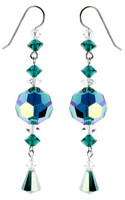 Large Emerald Green Statement Earrings - May Birthstone