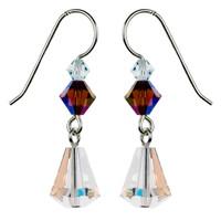 Vintage Clear AB Crystal Earrings - Seaside Jewelry