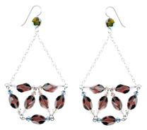 Botanical Chandelier Earrings w. Sterling Chain
