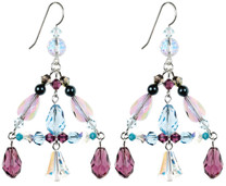 Colorful Crystal Earrings made with Fine Metal and Rare Swarovski beads.
