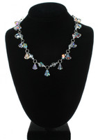 Handmade with SWAROVSKI ELEMENTS. Mix of clear, AB coated and silver crystals creates an elegant and eye catching design.
