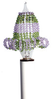 Crystal Candelabra Light Bulb Covers - Peridot & Violet