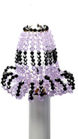 Candelabra Light Bulb Covers - Violet & Black
