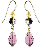 Purple Crystal Earrings - City Nights