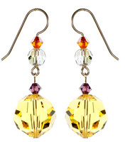 Yellow Light Topaz Earrings - City Nights
