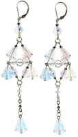 SWAROVSKI ELEMENTS and sterling silver combine to create these fantastic long drop earrings