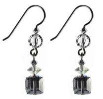 These single drop earrings are made with different shaped and colored SWAROVSKI ELEMENTS on sterling silver