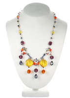 chunky colorful crystal necklace by Karen Curtis in NYC