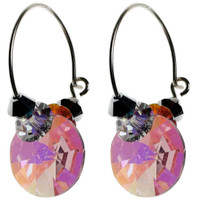 Vintage pink AB crystal earrings