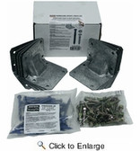 (6 Count) Simpson Strong-Tie HGAM10KTA Hurricane Gusset Angle Bracket Tie Kit With Screws for Masonry ( 6-10 Pack )