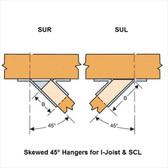 (12 Count) Simpson Strong-Tie HSUR414 4 x 14 Hanger Skewed Right