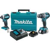 NEW Makita XT269R 18V LXT Hammer Drill & Impact Driver Combo Kit