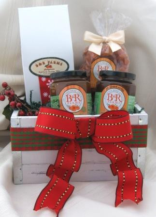 JiMari Sunrise Holiday Basket- Apricot Scone Mix, Dried Apricot Preserves, Dried Apricot Cinnamon Spread and Golden Slice Dried Blenheim Apricots