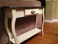 Antique White with Huron Dark stain top