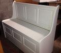 Maple chapel bench in Pure White finish