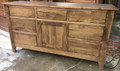 Available in Wormy Maple and finished in Early American stain
