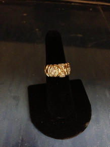 X Gold and Diamond Ring
