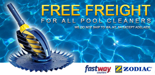 Free freight for all swimming pool cleaners