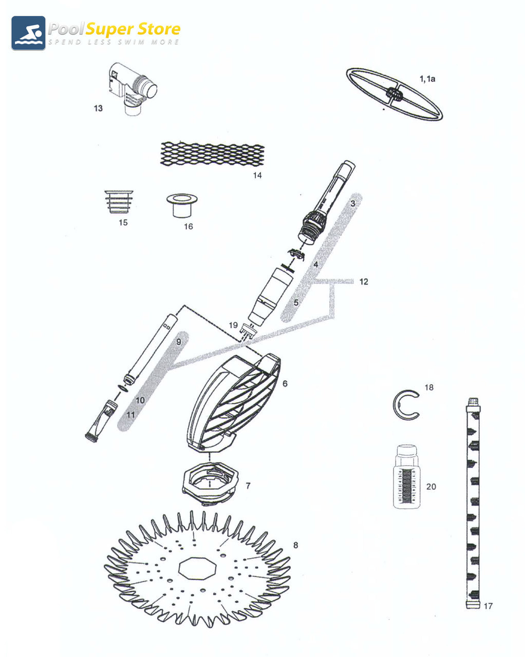 Pool cleaner spares zodiac g2 page 1 pool super store for a full diagram and break down of your zodiac g2 please click here ccuart Choice Image