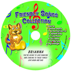 Friendly Songs Collection Personalized Kids Music CD