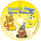 Friendly Songs Personalized Digitally Downloadable Music CDs