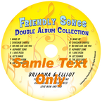 Friendly Songs Double Album Collection Personalized Music CD