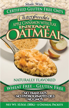 Glutenfreeda Apple Cinnamon Flax Oatmeal