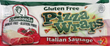 GlutenFreeda Sausage and Cheese Pizza Wrap